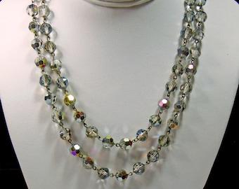 Vintage, Carnival Aurora Borealis Necklace (2868)