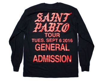 Saint Pablo Tour Long Sleeve T-Shirt