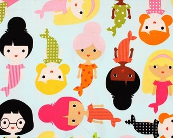 Girl Friends Patterned Fabric Ann Kelle for Robert Kaufman by the Half Yard