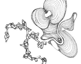 "Ocean Swirl Print 8.5"" x 11"""