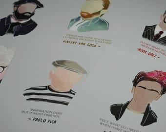 Artist Quote Illustration Print Series