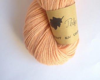 Peach - Skein of baby alpaca hand dyed
