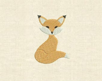 Machine embroidery design fox