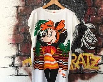 Vintage Minnie Mouse Guam Usa Night Dress