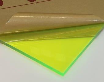 "Fluorescent Green Acrylic Plexiglass 9093 - 1/4"" Thick"