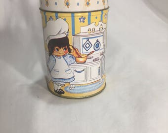 Yellow House of Lloyd Tin, Vintage Advertising Container 1985