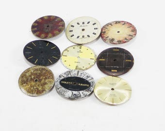 Watch faces movement parts men faces Steampunk decor faces for jewelry making gears assemblage art jewelry supply Watch Movement Parts frame