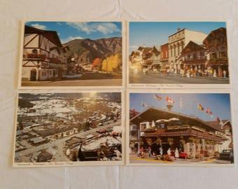 4 unused postcards leavenworth washington the bavarian village post cards autumn leaf festival stevens pass mai fall photos pictures art lw1