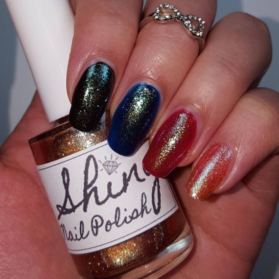 CHAMELEON GLITTER with Iridescent Flakes 5-Free Base Handmade Indie ...
