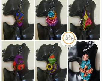 Ankara Chandelier Earrings/Ankara Earrings / African Print Earrings /Handmade Earrings / African earrings/ Large Earrings  FREE UK SHIPPING