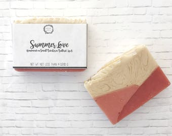 Orange Palmarosa Soap: Cold Process Soap, Handmade Soap, Citrus Soap, Shea Butter Soap, Vegan Soap, Bar Soap, Natural Soap, Tea Soap