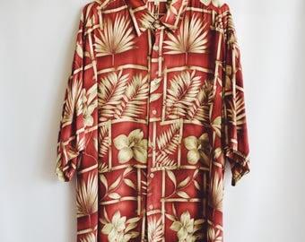 Shirt Vintage Hawaiiana Garnet