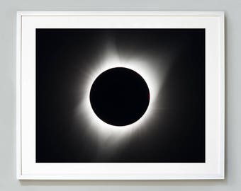 Solar Eclipse Print August 21, 2017, Great American Eclipse, NASA Photograph Taken From Madras, Oregon, Museum Quality Art Print