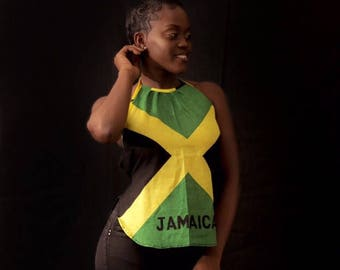 Jamaican flag top Small