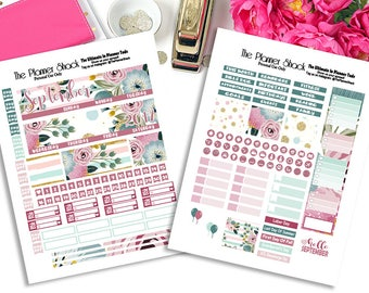 Recollection September Monthly Layout // Recollections // Printable // Printable Stickers // Planner Printables // September View // Monthly