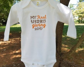 First Thanksgiving or Fall Onesie