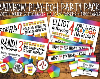 Rainbow Play-Doh Party Pack!