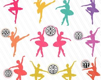 Ballerina svg, Ballet Dancer Svg, Ballet SVG, Ballerina Clipart, Ballerina Monogram frames svg, Cricut, Dancer svg - Svg, Dxf, Ai, Eps, Pdf