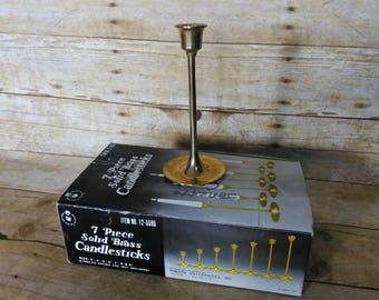 Brass Candlesticks Seven Count