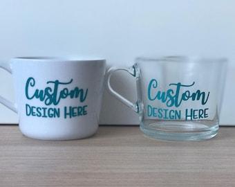 Custom Glass Mug | Personalised Cup | Mug | Gift | Coffee Mug