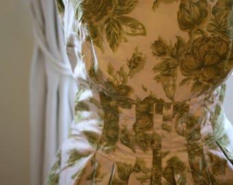 Vintage 1950s Formal Summer Occasion Dress Size 8