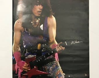 Vintage 80s Original 1985 KISS Paul Stanley Promo poster 24x32 rock band