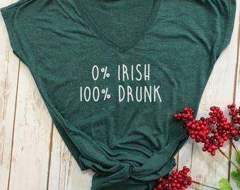 0 irish- 100 drunk- st patricks day shirt- funny st pattys day shirt- funny st patricks day shirt-lucky womens shirt-drinking shirt- funny