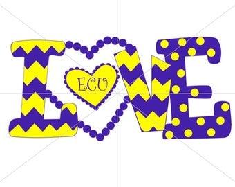 Love ECU Pirates SVG East Carolina University SVG