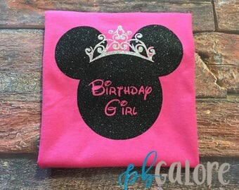 Birthday Minnie Glitter | Disney Shirt | Minnie Mouse | Disney Princess Shirt | Princess Minnie | Disney Vacation | Birthday Girl