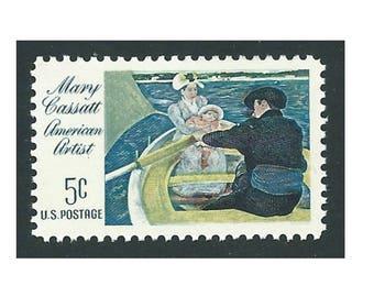 Pack of 25 .. 5c Mary Cassatt American Artist .. Vintage Unused US Postage Stamps .. Impressionist art, gift for artist, art painting