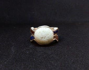 Signet ring // stone ring // ancient ring// Roman ring// ancient shape // ancient marbles //silver ring // hand made//