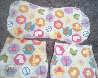 Baby, Animal burp cloth set