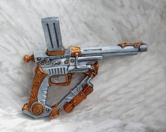 Assassins Creed Gothic Steampunk Silenced Sidearm Larp , Cosplay and Display collectable Gun