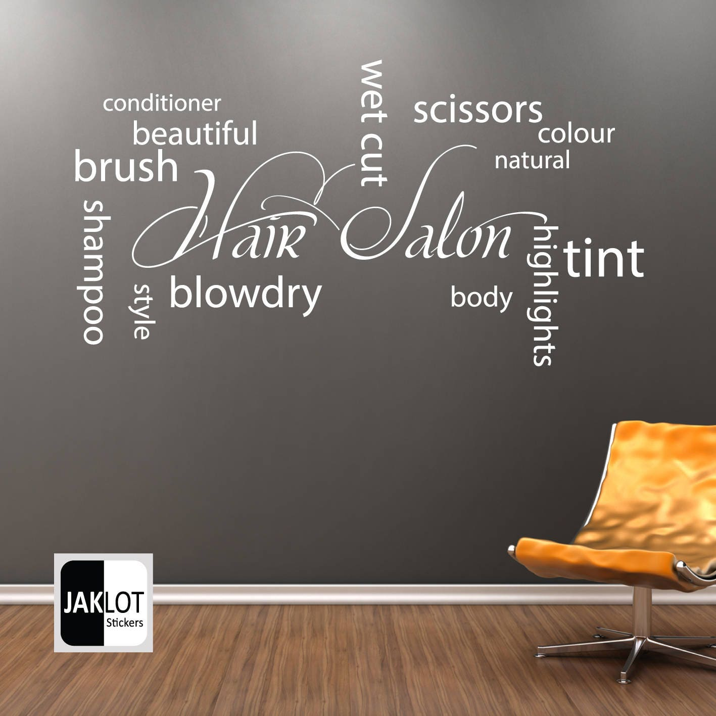 Hair salon collage words x large vinyl wall art sticker zoom amipublicfo Gallery
