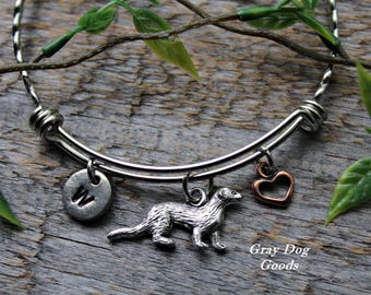 Ferret Bracelet, Ferret Jewelry, Pet Ferret, Ferret Sympathy