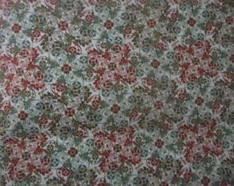 French Roosters Collection Penny Rose Cotton Fabric #102 Red