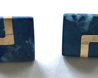 Spiegel 14 Kt Gold & Blue Lapis Pierced Earrings