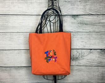 Trick or Treat Bag, Candy Treat Bag, Halloween Goody Bag, Halloween Treat Bag, Lined Candy Bag, Halloween Candy Bag, Lined Halloween Tote