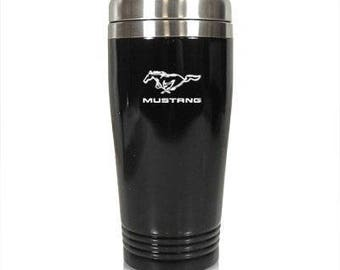 Black Mustang Travel Mug