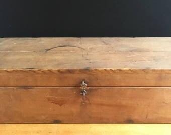 "Historic wood box from 200-year-old estate, Americana, primitive, cottage decor, farmhouse decor, movie prop for drama, ""Turn"""