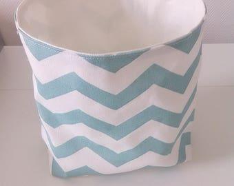 Zig zag pattern storage basket
