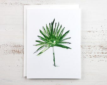 Tropical Leaf - Bismarkia Note Card