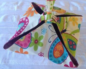 Pie bag door-dish(-flat) handmade butterflies and flowers
