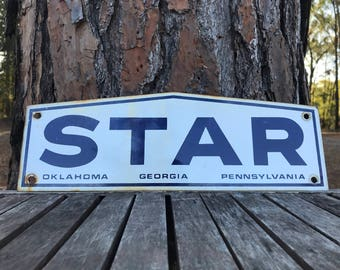 Original STAR Building Systems Porcelain Sign