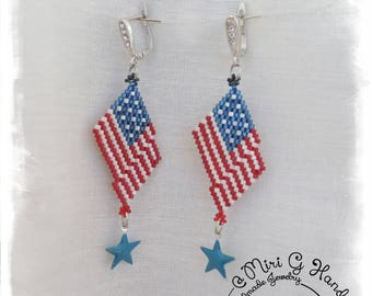 USA Flag Earrings