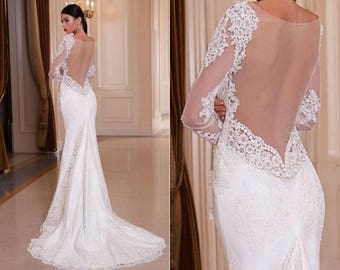 Alsa - Couture Sheath Stretch Satin Wedding Gown