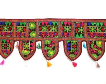 Handmade Window Door Valance Home Decor Decorative Embroidered Patchwork Toran Pelmet Topper Drapery Top Hanging Tent Decoration Art K341