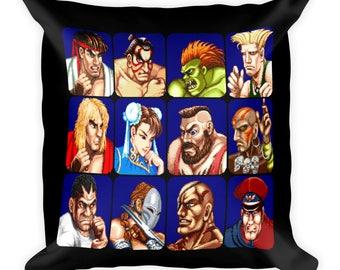 Street Fighter II Portraits Pillow