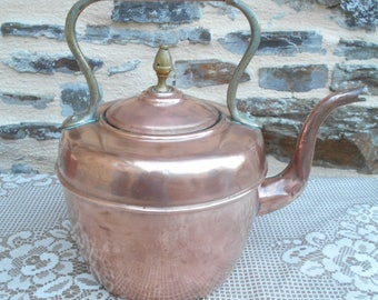 Beautiful vintage french copper stove/fire kettle (Y)