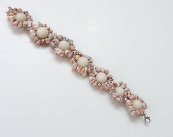 Bracelet, Handmade, Tibetan stone, Marble jasper semi-precious stones